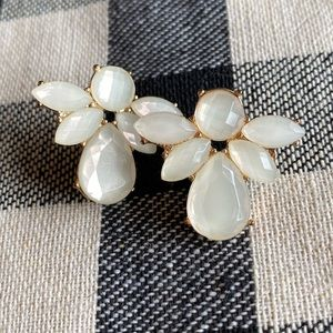 Francesca's Collections Jewelry - 🍂 White Stone Statement Earrings